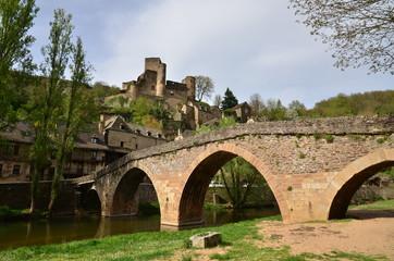 PONT ET CHÂTEAU DE BELCASTEL ( 11 éme Siècle Aveyron ) FRANCE 2
