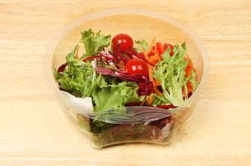 Mediterranean salad on a board