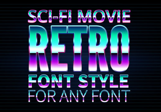 Retro Sci-Fi Text Style