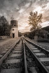 train tracks duotone