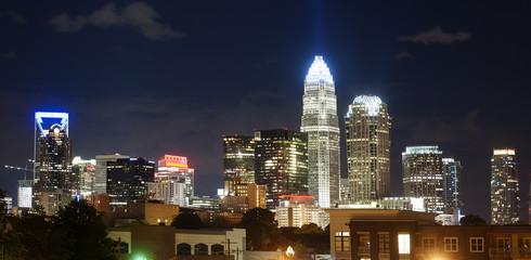 Charlotte skylilne at night