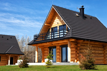 A housing estate of modern wooden houses. Fototapete