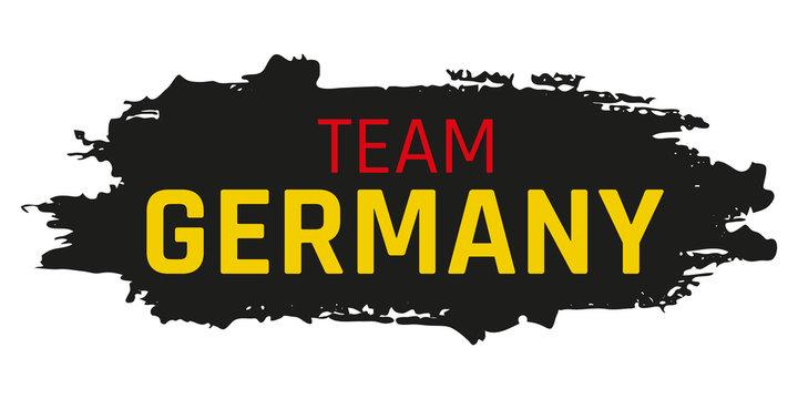 """Grunge Button """"Team Germany"""""""