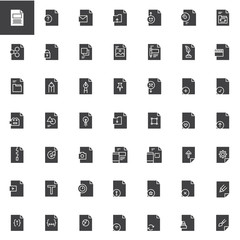 File formats vector icons set