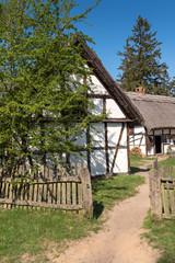 Old whitewashed house