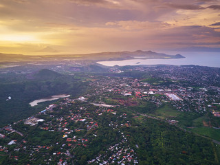 Cityscape of Managua town