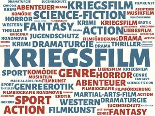 KRIEGSFILM - Bilder mit Wörtern aus dem Bereich FILM, Wort, Bild, Illustration