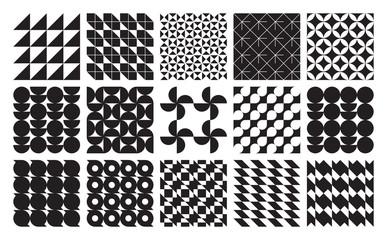 Vector seamless geometric patterns set classic ornament