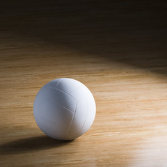 Volleyball on wooden court