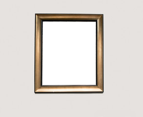 Blank White Picture Frame on a Wall