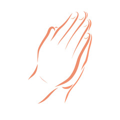 Hands of a Christian praying to God