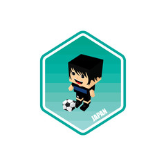 soccer isometric theme japan