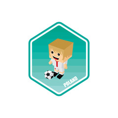 soccer isometric theme poland