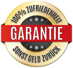 glänzendes rundes siegel  100% Zufriedenheit Garantie