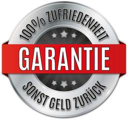 silber glänzendes rundes siegel  100% Zufriedenheit Garantie
