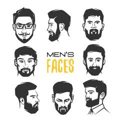 Man's face with beard.