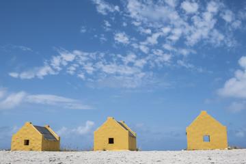 Slave Huts of Bonaire Caribbean