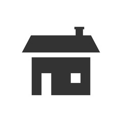 Home icon isolated on white background.