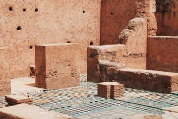 Ruins of sultan palace El Badi