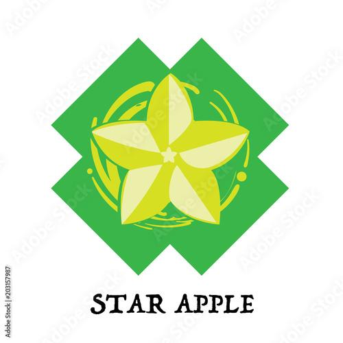 Fruit Star Apple Graphic Element Design Key Visual Icon Symbol