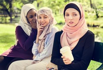 Islamic women gossiping and bullying her friend