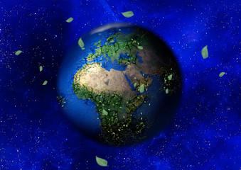 抽象的な地球