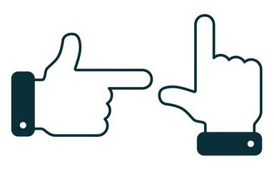 Directional Index Finger Set