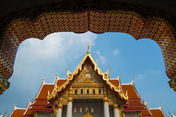 Fotomurales - Wat Benchamabophit (The Marble Temple), Bangkok, Thailand.