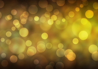 Yellow Bokeh Lights Background