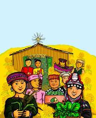 Thai Hill Tribe Celebration Indegenous Culture