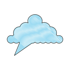 speech cloud icon over white background, colorful design. vector illustration