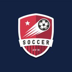 Soccer Football league logo design elements for sport team.