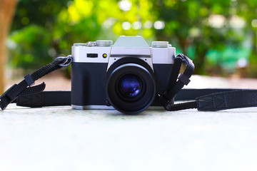 Vintage cameras that had been popular in the past