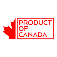 Product of Canada Sticker