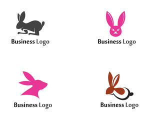 Rabbit Logo template vector icon design template app