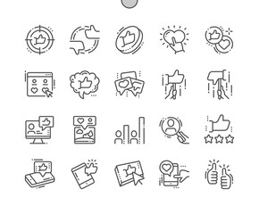 Votes Well-crafted Pixel Perfect Vector Thin Line Icons 30 2x Grid for Web Graphics and Apps. Simple Minimal Pictogram