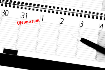 Ultimatum Eintrag in Kalender