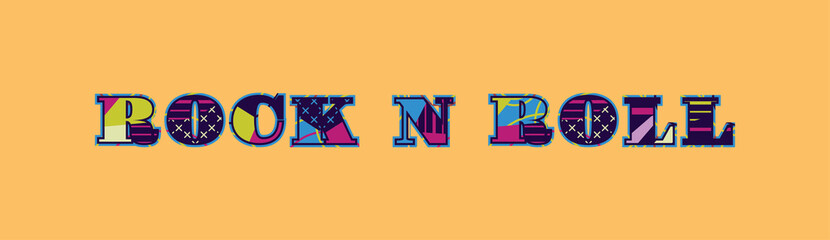 Rock N Roll Concept Word Art Illustration