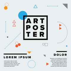 Modern geometry art poster template