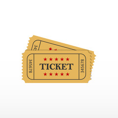 Ticket icon. Ticket on event.