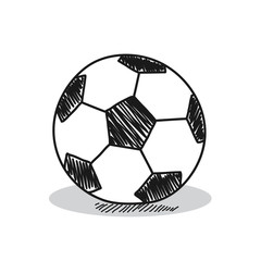 Football illustration on a white background