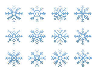Snowflake design illustration icon