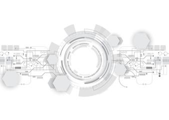 Grey Geometric Digital Technology Background