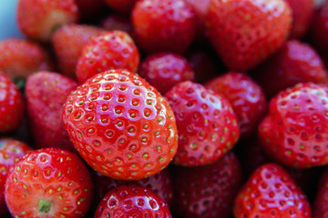 Red juicy ripe fresh strawberry
