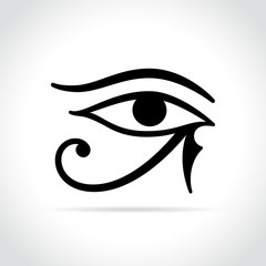 horus eye icon on white background