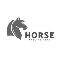 elegant head horse logo