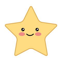 cute happy kawaii star cartoon image vector illustration