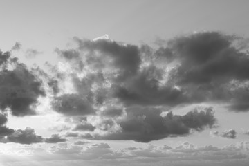Sky and clouds 3 _ B&W