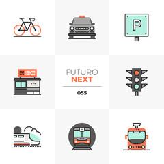 Road Transport Futuro Next Icons