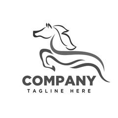 run Jumping horse logo